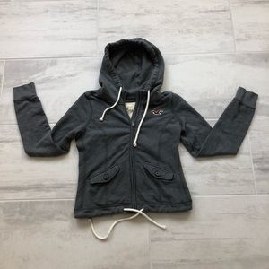 Hollister Hoodie Jacket Full Zipper Flap Pockets